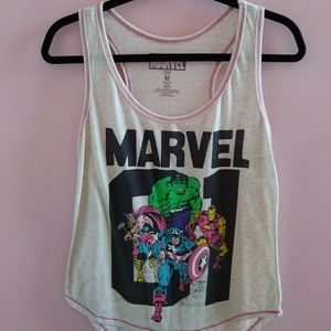 NWOT Marvel Racerback Graphic Tank Top M